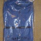 VAN HEUSEN Studio Slim Wrinkle Free Long Sleeve Shirt 17-1/2 Pacific0 20KH051002