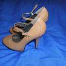OLHO Sexy Mary Jane Mary Jane Platform High Heels Pumps Shoes 6 Tan