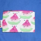 CLINIQUE By Vera Neumann Cosmetic Make Up Small  Bag Watermelon Print