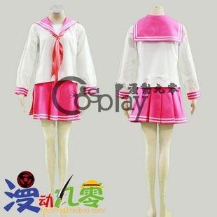 Lucky Star Izumi Konata Red School Uniform Cosplay Costume