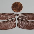 Etched COPPER True To Life Filigree Dragonfly or Fairy Wings 3/4 Life size 2""