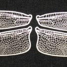 Etched German Silver Filigree Dragonfly or Fairy Wings -- Life size 2-1/2&quot;