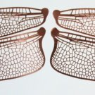 Style 1 Etched COPPER True To Life Filigree Dragonfly or Fairy Wings 2X size 5&quot;