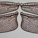 Style 2 Etched COPPER True To Life Filigree Dragonfly or Fairy Wings 2X size 5""