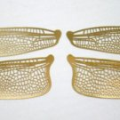 Style 1 Etched BRASS True To Life Filigree Dragonfly or Fairy Wings 2X size 5""