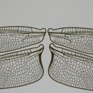 GIANT  Etched BRASSTrue To Life Filigree Dragonfly or Fairy Wings 6X size 15""