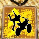 Brown Motocross Stunt Pendant