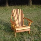 Zebra Stripe Cedar Adirondack Chair