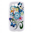 Bright Flower and Butterflies Samsung Galaxy S3 Hardshell Case - s3flr4