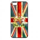 UK Flag and Royal Coat Arms iPhone 5 Slim Fit Hard Case (Black) - i5suk3