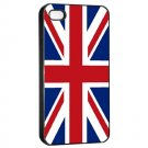 UK Flag iPhone 4 hard case (Black) - i4uk4
