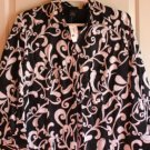 Woman black/white blouse/top by Lane Bryant sz 22
