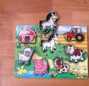 Wood Farm Puzzle By Forever Toys