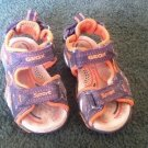 BABY BROWN ORANGE SANDALS WITH HEEL COMFORT SZ 7 by GEOX