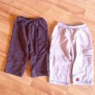 BABY  2 PANTS BEIGE/BROWN BY CARTER'S SZ 18 M