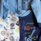 baby sleepwear/playwear rock star (2) size 6-9 m