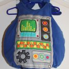 Blue baby ROBOT/ALIEN  with pants 0-6M