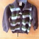 TODDLER SWEATER STRIPES FRONT ZIPPER BY GYMBOREE SZ 18-24 M