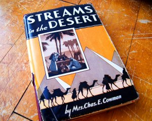 Streams in the Desert Hardcover Devotional Book by Mrs. Chas. Cowman 1950