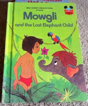Mowgli and the Lost Elephant Child Walt Disney Vintage Jungle Book 1978