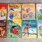 Lot 8 Vintage Little Golden Books: Walt Disney Bambi, Donald Duck, Winnie the Pooh