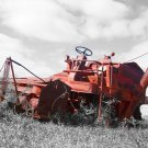 Big Red Massey Harris Combine on the Prairie 5x7 Photo