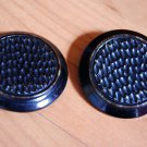 Pair of large celluloid shank buttons vintage unique raised textured design