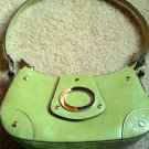 Small Light Spring Green Shoulder Hand Bag Purse w/ Zipper
