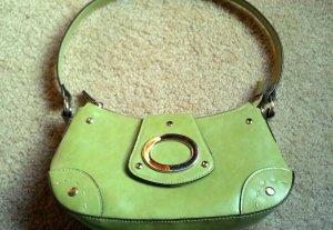 Small Light Spring Green Shoulder Hand Bag Purse w/ Zipper