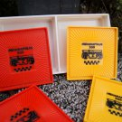 Set 4 Vintage Collectible red yellow INDIANAPOLIS 500 Race Car Drink Coasters
