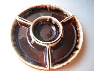 Vintage Pfaltzgraff Pottery Gourmet Royale Brown Drip Lazy Susan USA