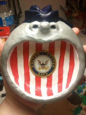 navy face