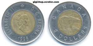 1996 CANADA 2 DOLLAR COIN PROOF