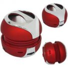 Wireless Bluetooth Stereo Speaker - Hamburger Design - Red Color