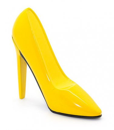 Gas Lighter - High-Heeled Shoe Style - Yellow - New