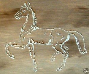 RAISED PLASTER PRANCING HORSE STENCIL