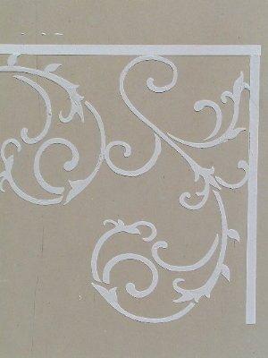 Raised Plaster Wrought Iron Stencil