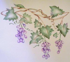 Grape vine Border Painting Stencil Wall Stencil