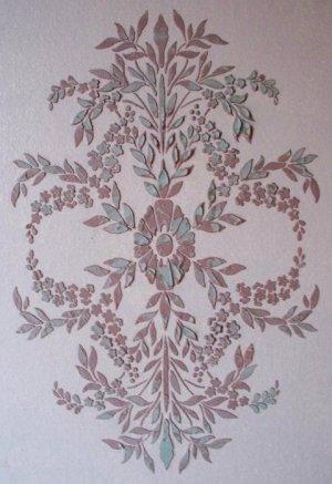 Raised Plaster Floral Medallion, Wall Stencil, Painting Stencil