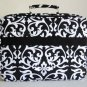 "17"" Computer/Laptop Briefcase Bag Padded Travel Luggage Case Damask/Floral White"