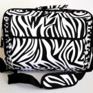 "17"" Computer/Laptop Ipad Briefcase Bag Padded Travel Office CarryOn Zebra Black"