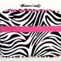"17"" Computer/Laptop Ipad Briefcase Bag Padded Travel Office CarryOn Zebra Pink"