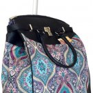 "19"" Computer/Laptop Bag Tote Duffel Rolling Wheel Case Purse Tablet Taj Blue"