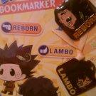 Katekyo Hitman Reborn! Reborn/Lambo Metal Charms Bookmarker