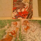 Soryuden: Legend of the 4 Dragon Kings Clamp 3 Card & Envelope Set