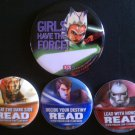 Star Wars Clone Wars 2011 NYCC READ Penguin Publishing Button Set