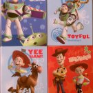 4 Different Disney Pixar Toy Story Holiday Greetigng Cards with Envelopes