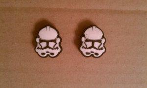 Star Wars Stormtrooper Helmet 2pcs Shoe/Croc Jibbitz Charms