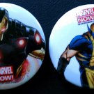 Marvel Now! Button set (Iron Man, Wolverine)