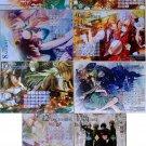 B's Log Amnesia Double-sided Calendar Cards Set of 6 (4/2012 – 3/2013)